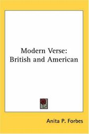 Cover of: Modern Verse | Anita P. Forbes