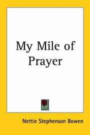 Cover of: My Mile of Prayer