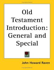 Cover of: Old Testament Introduction | John Howard Raven