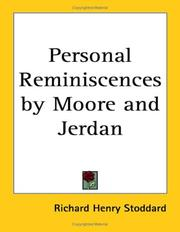 Cover of: Personal Reminiscences by Moore and Jerdan