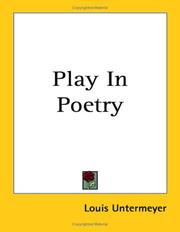 Cover of: Play in poetry