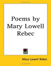 Cover of: Poems by Mary Lowell Rebec