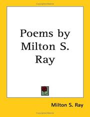 Cover of: Poems by Milton S. Ray