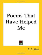 Cover of: Poems That Have Helped Me