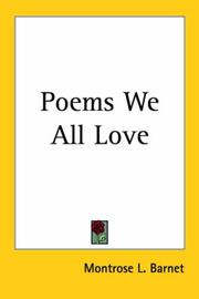 Cover of: Poems We All Love
