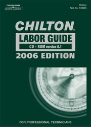 Cover of: Chilton Labor Guide 2006 | John Harold Haynes