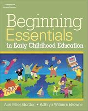 Cover of: Beginning Essentials in Early Childhood Education