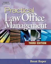 Cover of: Practical Law Office Management, 3E (West Legal Studies)