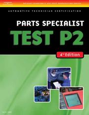 Cover of: ASE Test Preparation- P2 Parts Specialist