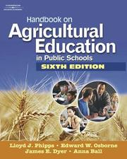 Cover of: Handbook on Agricultural Education in Public Schools | Lloyd  J Phipps
