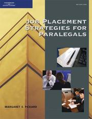 Cover of: Job placement strategies for paralegals