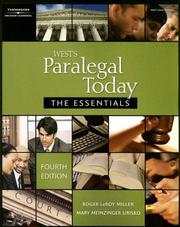West's paralegal today by Roger LeRoy Miller
