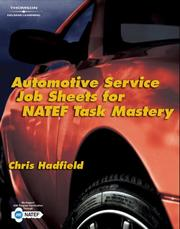 Cover of: Automotive Service Job Sheets for NATEF Task Mastery