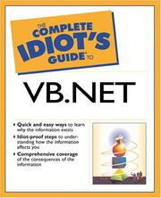 Cover of: The Complete Idiot's Guide(R) to Visual Basic .NET