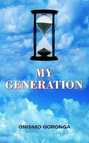 Cover of: MY GENERATION