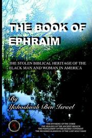 Cover of: The Book of Ephraim