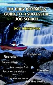 Cover of: The Baby Boomer's Guide To A Successful Job Search