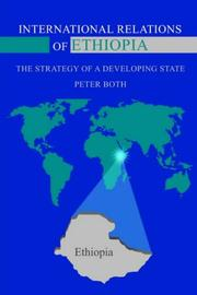 Cover of: INTERNATIONAL RELATIONS OF ETHIOPIA