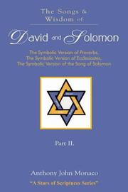 Cover of: The Songs and Wisdom of DAVID AND SOLOMON Part II