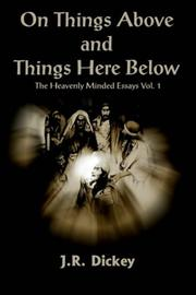 Cover of: On Things Above and Things Here Below
