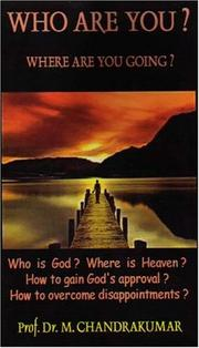 Cover of: Who Are You? Where Are You Going?