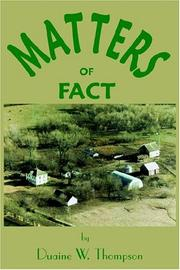 Cover of: Matters Of Fact