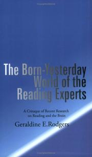 Cover of: The Born-Yesterday World of the Reading Experts
