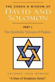 Cover of: The Songs and Wisdom of DAVID AND SOLOMON Part I