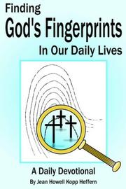 Cover of: Finding God's Fingerprints in our Daily Lives