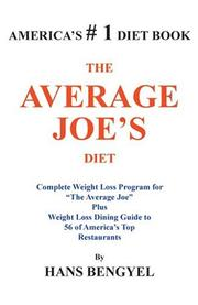 Cover of: THE AVERAGE JOE'S DIET