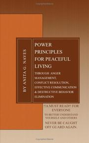 Cover of: POWER PRINCIPLES FOR PEACEFUL LIVING
