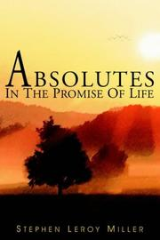 Cover of: ABSOLUTES IN THE PROMISE OF LIFE