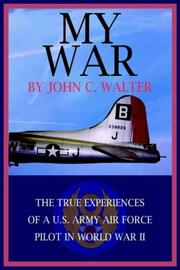 Cover of: MY WAR