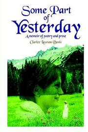 Cover of: Some Part of Yesterday