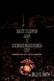 Cover of: MY LIFE AS I REMEMBER IT