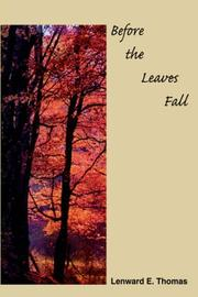 Cover of: Before the Leaves Fall