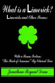 Cover of: What is a Limerick?: Limericks and Other Poems: With a Bonus Section