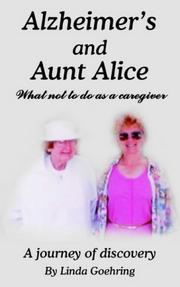 Cover of: Alzheimer's and Aunt Alice