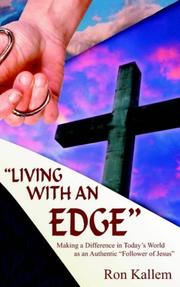 "Cover of: ""LIVING WITH AN EDGE"""