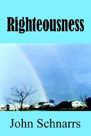 Cover of: Righteousness