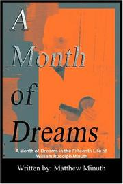 Cover of: A Month Of Dreams