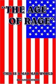"Cover of: ""THE AGE OF RAGE"""