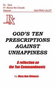 Cover of: God's Ten Prescriptions Against Unhappiness