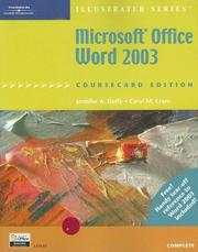 Cover of: Microsoft Office Word 2003, Illustrated Complete, CourseCard Edition (Illustrated Series) | Jennifer Duffy