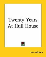 Cover of: Twenty Years At Hull House