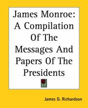 Cover of: James Monroe | James D. Richardson