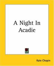 Cover of: A night in Acadie