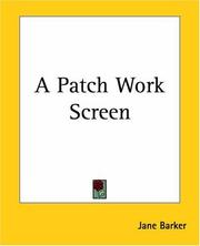 Cover of: A Patch Work Screen