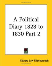 Cover of: A Political Diary 1828 To 1830