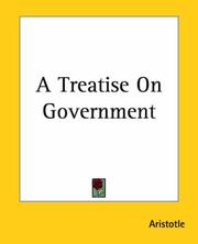 Cover of: A Treatise On Government |